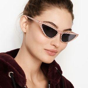 Dot Skinny Cat Eye Sunglasses